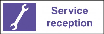 Service reception sign
