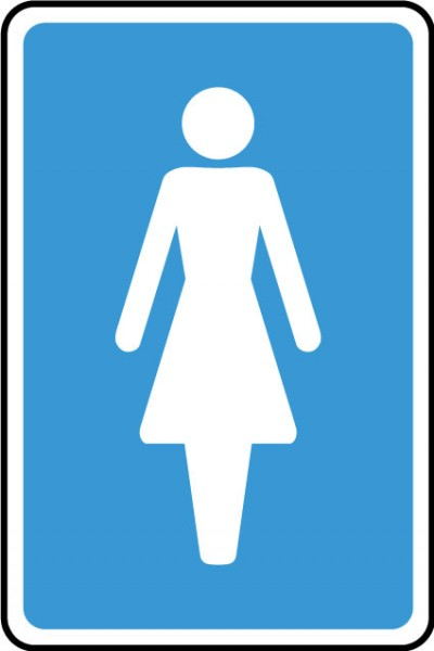 Ladies WC sign