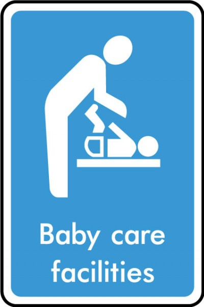 Baby care facilties sign