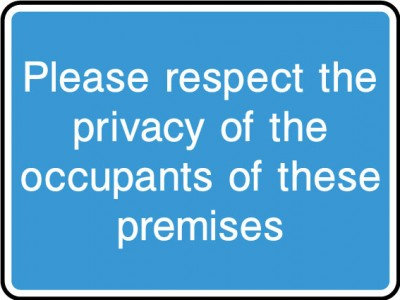 Please respect the privacy sign