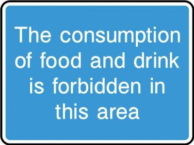 Consumption of food & drink sign