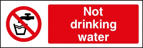 Not drinking water sign
