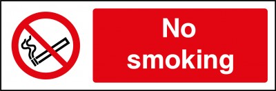 No smoking sign clear window sticker
