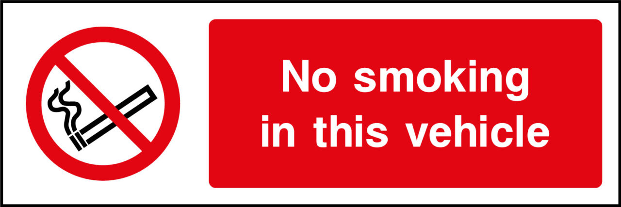 No Smoking In Vehicle Sign Health And Safety Signs