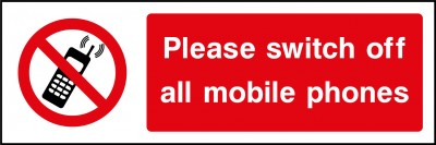 Please switch off your mobile phones sign