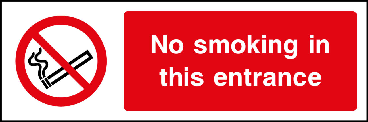 No Smoking Entrance Sign Health And Safety Signs