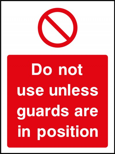 Guards safety sign