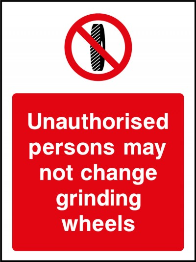 No unuathorised persons sign