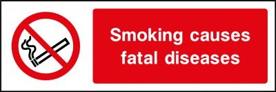 Smoking causes fatal diseases sign