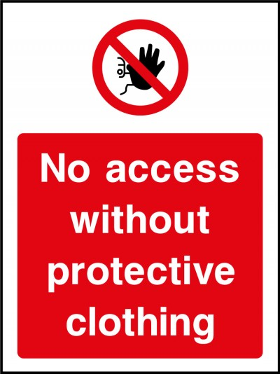 No access without PPE sign