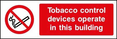 Tobacco control devices sign