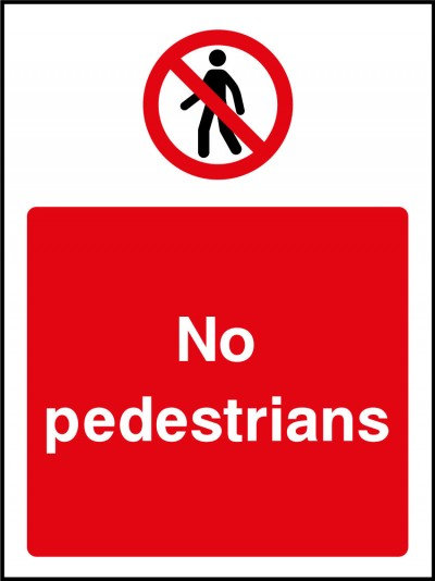 No pedestrians sign