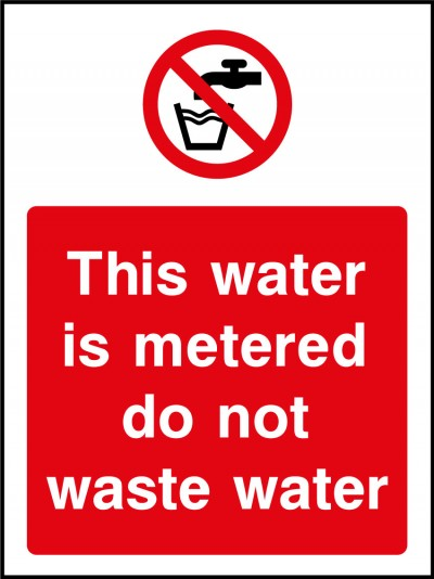 Water metered sign