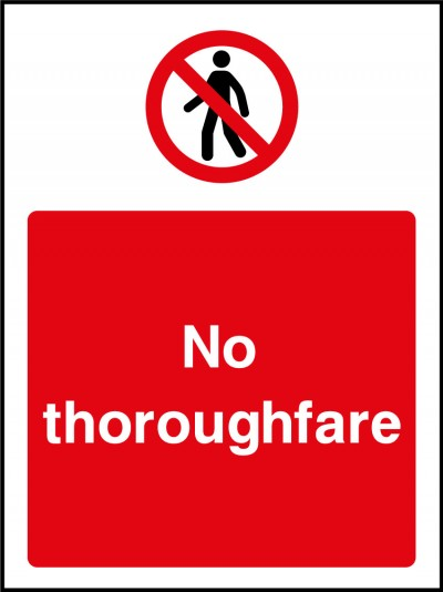 No throughfare sign