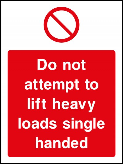 Heavy load sign