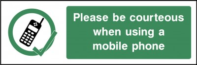 Mobile phones sign