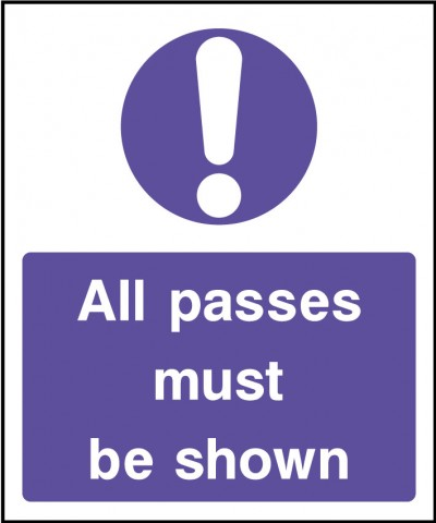 Show passes sign