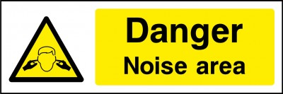 Noise area sign