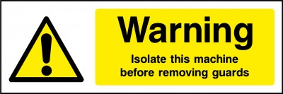 Isolate machine sign