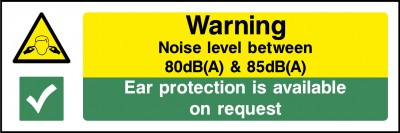 Noise level sign