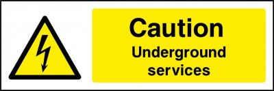 Underground services sign