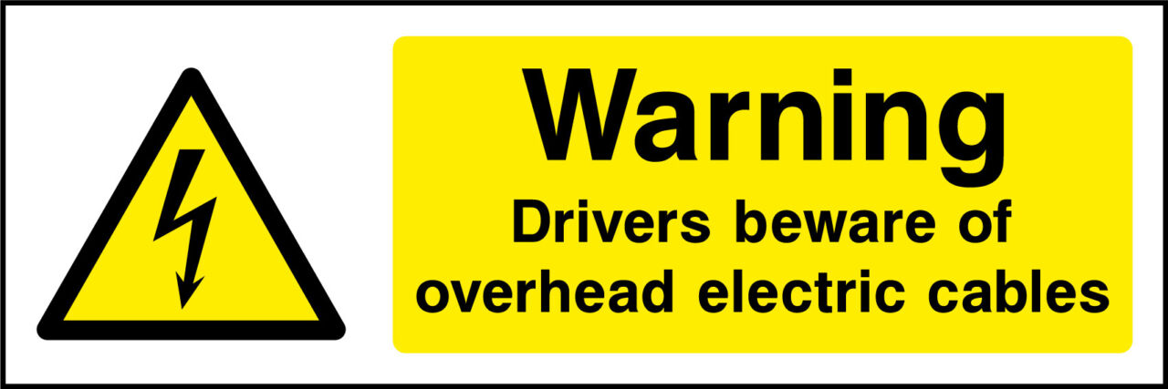 Beware Overhead Electric Cables Sign Health And Safety Signs