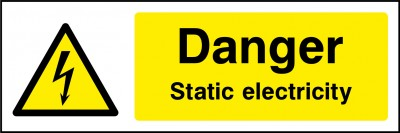 Static electricity sign