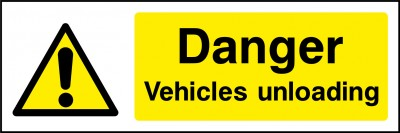 Vehicles unloading sign