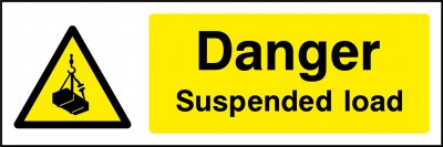 Suspended load sign