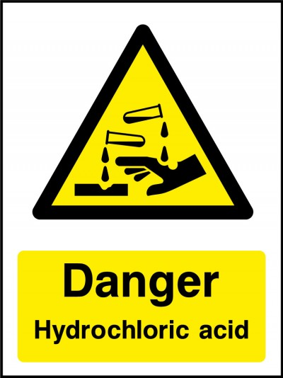 Hydrocloric acid sign