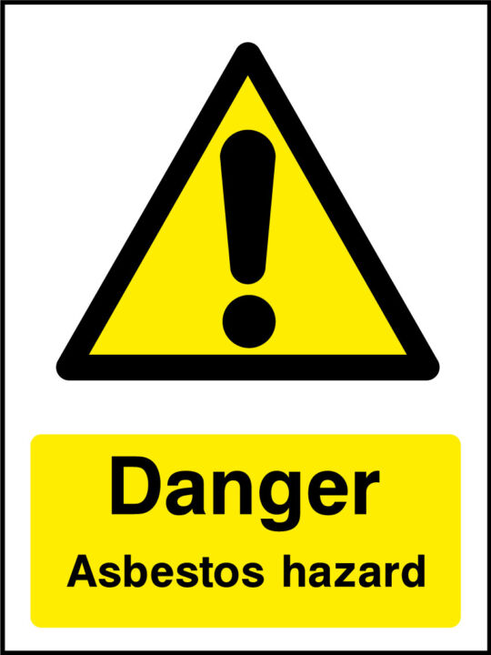 Asbestos Hazard Sign Health And Safety Signs