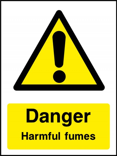 Harmful fumes sign