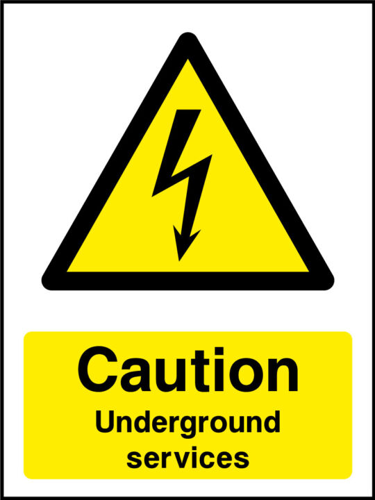 Underground Services Sign Health And Safety Signs