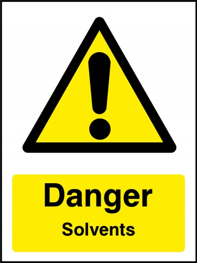 Solvents sign