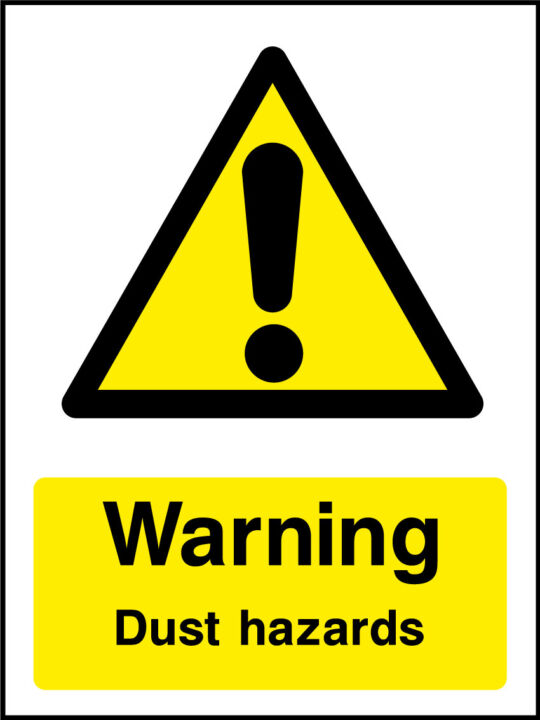 Dust Hazard Sign Health And Safety Signs