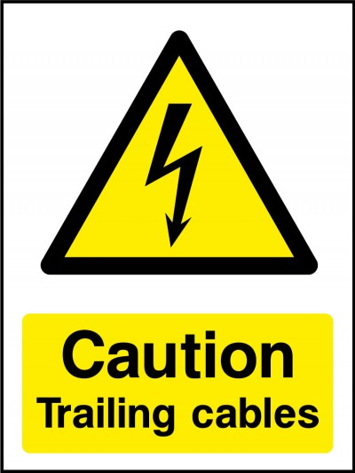 Trailing cables sign