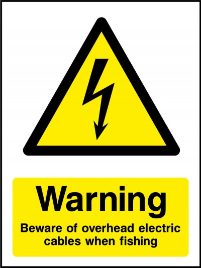 Beware overhead electrical cables sign