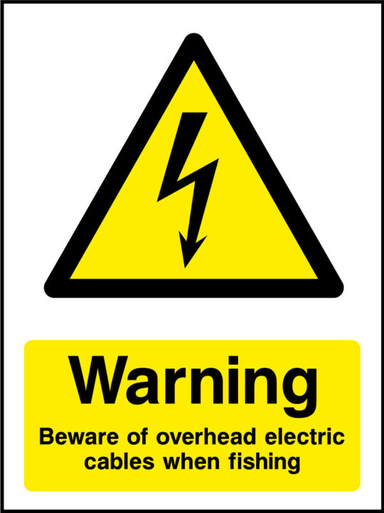 Beware Overhead Electrical Cables Sign Health And Safety