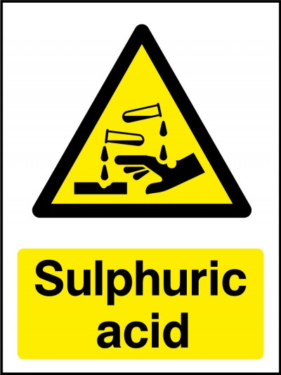 Sulphuric acid sign