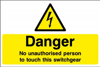 Switchgear sign