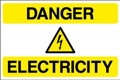 Danger electricty sign