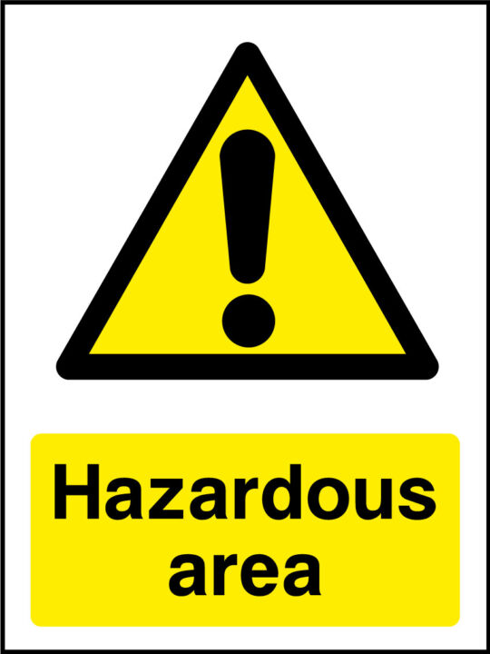 Chemical Danger Signs Health And Safety Signs