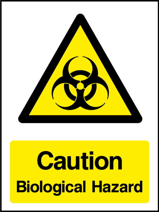 Biological Hazard Sign Health And Safety Signs