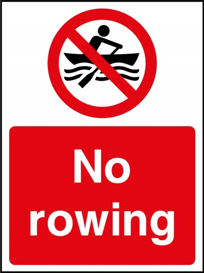 No rowing sign