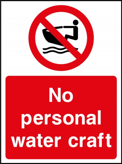 No personal water craft sign