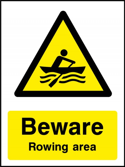 Rowing area sign