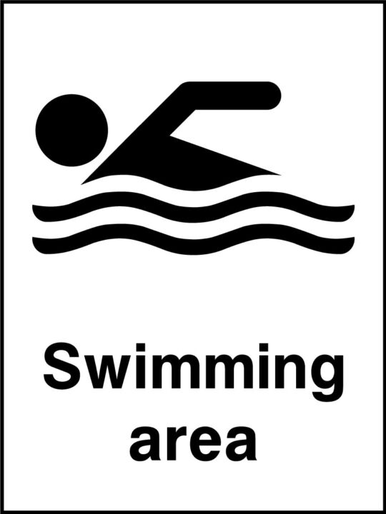 Swimming Area Sign Health And Safety Signs