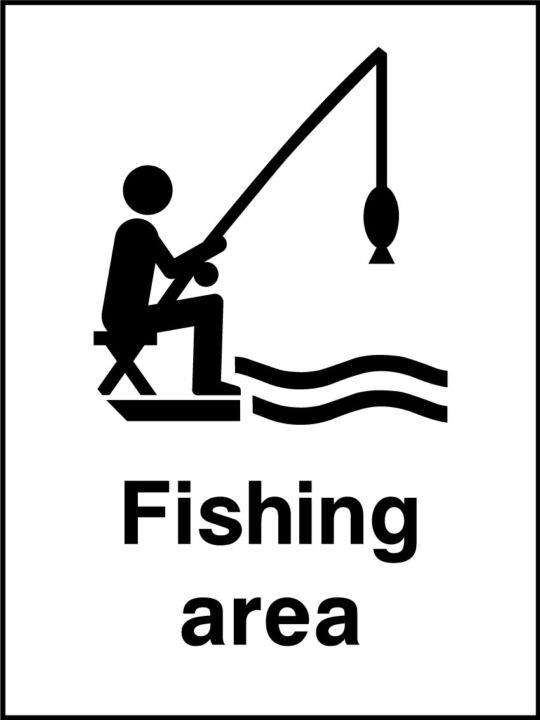Fishing Area Sign Health And Safety Signs