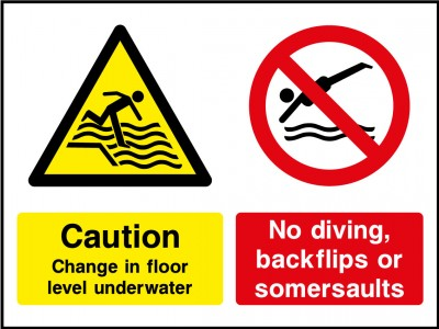 Water depth sign