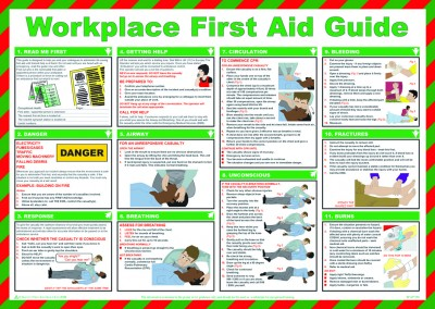 Workplace first aid safety poster
